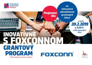 Nitra: Výsledky 1. ročníka grantového programu INOVATÍVNE S FOXCONNOM