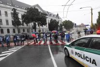 Protest odborárov OZ KOVO v Košiciach
