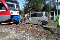 Zrážka vlaku s dodávkou