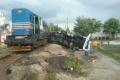 Nákladný vlak sa v Dunajskej Strede zrazil s kamiónom