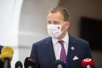Boris Kollár na tlačovej konfferencii
