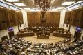 Luster v rokovacej sále parlamentu vymenili za LED osvetlenie